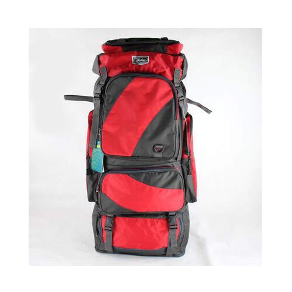 バックパック、大容量アウトドアバックパック80 L、ハイキングバックパックリュックサック、赤い男性と女性のハイキング防水 B07S1L2M1B Red 80*36*22cm