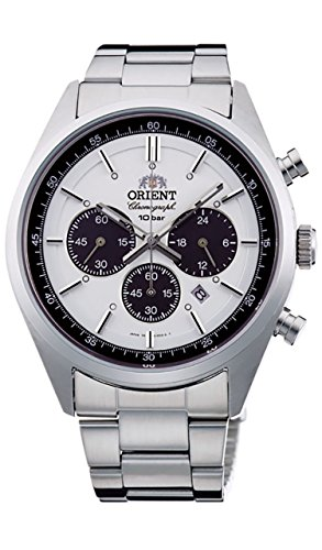 ORIENT Men's watch NEO 70's neo-Seventies SOLAR PANDA milky white WV0041TX