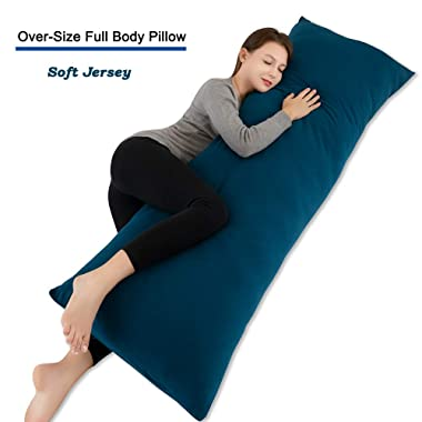 INSEN 55in Body Pillow-Full Body Pillow- Bed Sleeping Pillow-with Removable Body Pillow Cover (Navy Blue)