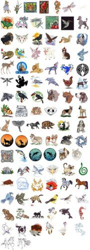 est of Embroidery Machine Designs CD ANIMALS 100 DESIGNS ()