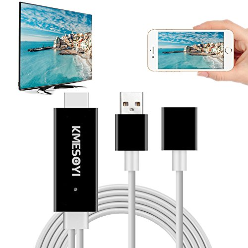 Abc Family Original Christmas Movies - Lightning MHL to HDMI Cable Adapter, Plug and Play HDMI Adapter with 1080p Resolution for iPhone, Samsung Android to HDTV/Projector for Sharing Movies / Photos on Holiday, Christmas