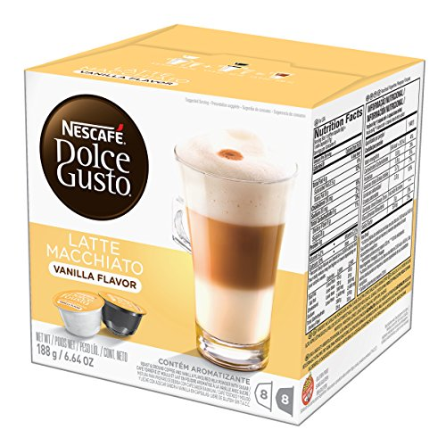 NESCAFÉ Dolce Gusto Coffee Capsules  Vanilla Latte Macchiato 48 Single Serve Pods, (Makes 24 Specialty Cups)  48 Count
