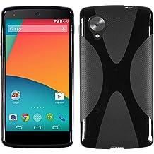 Silicone Case for Google Nexus 5 - X-Style black - Cover PhoneNatic + protective foils