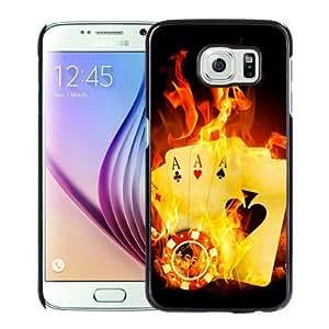 Popular Samsung Galaxy S6 Case, Beautiful Designed Case With poker Black Samsung Galaxy S6 Cover