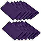Lann's Linens - 1 Dozen 17 in. Cloth Dinner Napkins w/ Hemmed Edges - Purple