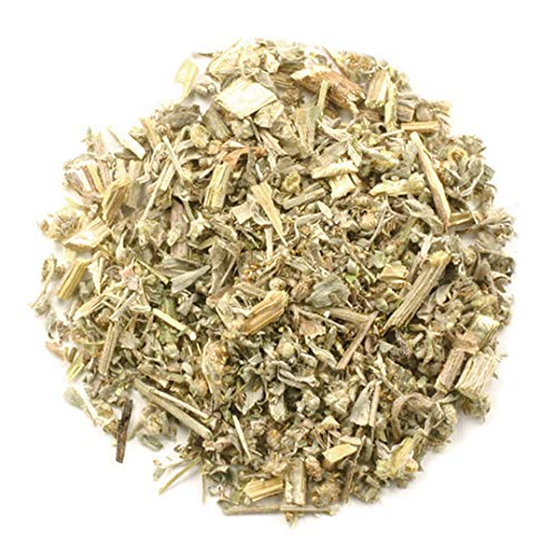 Frontier Co-op Wormwood Herb, Cut & Sifted, Kosher, Non-irradiated | 1 lb. Bulk Bag | Artemisia Absinthium L.