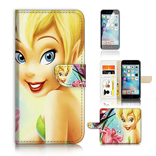 ( For iPhone 7 Plus 5.5' ) Flip Wallet Case Cover and Screen Protector Bundle A8432 TinkerBell