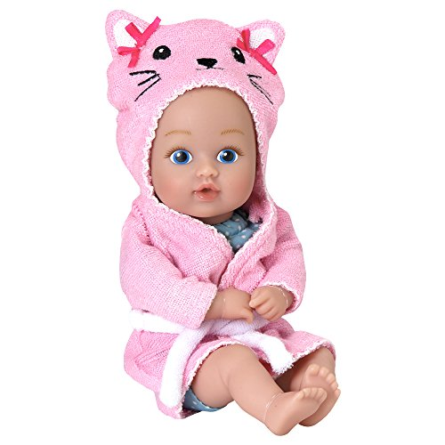 "Adora BathTime Baby Tot ""Kitty"" small 8.5 Inch washable BathTub Water Safe Soft Body Vinyl Fun Play Toy Doll for Boy or Girl Children and Toddlers 1 Year Old and ()"