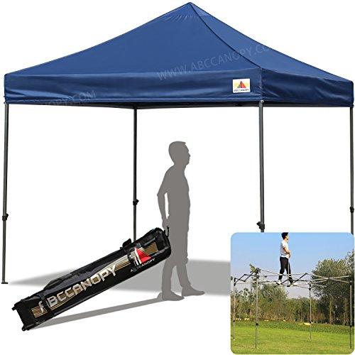 ABCCANOPY 30+colors Pop Up Canopy 10 X 10-feet Commercial Instant Canopy Kit Ez Pop up Tent,Bonus Roller bag, Navy Blue