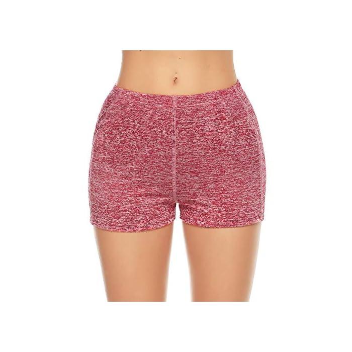 51h9A7m%2BefL ✔ 2 piezas Pantalones cortos: cinturilla elástica, súper suave y elástica, te mantiene fresco y cómodo. ✔ Tela: tela de secado rápido para comodidad durante todo el día y se siente muy bien en la piel 93% Poliéster, 7% Elastano