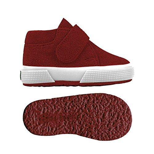 Superga S001NW0 - Zapatos de cordones para niños Red Dk Scarlet