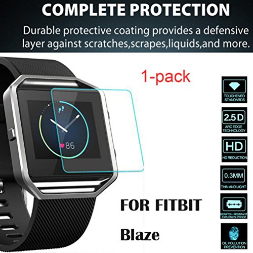 LtrottedJ 1-PACK Transparent Clear Screen Protector Film,For Fitbit Blaze