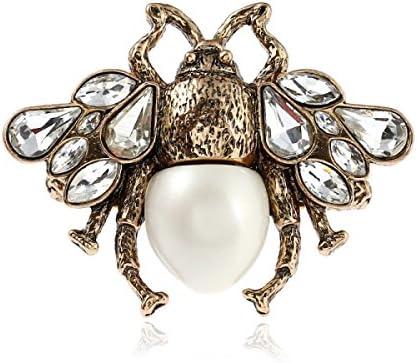 LYFLYF Mehrschichtiger Personalisierter Insekten-Ring-Bienen-Öffnungs-Ring