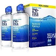 ReNu Bausch + Lomb renu Lens Solution Advanced Triple Disinfect Formula Multi-Purpose, 12 Ounce Bottle Twinpack