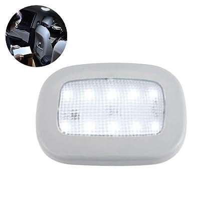 Luces LED para techo de coche, de Pawaca, inalámbricas, automáticas, con ventosa magnética, universal, recargable mediante USB, luz de maletero, Gris, ...