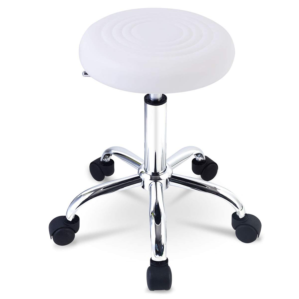Fabulous Goplus Adjustable Hydraulic Rolling Swivel Stool Tattoo Facial Massage Spa New 1 White Caraccident5 Cool Chair Designs And Ideas Caraccident5Info