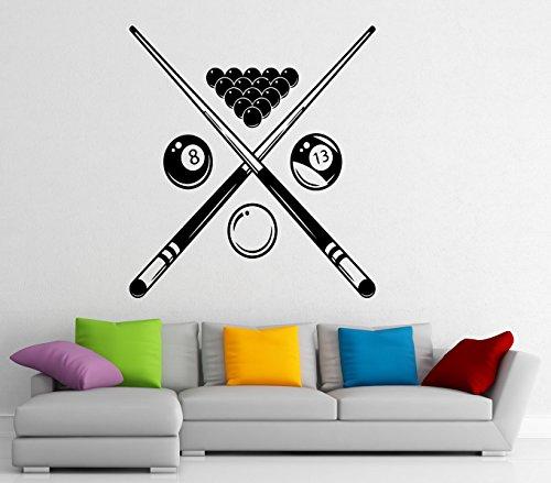 Billiard Wall Decal Snooker Vinyl Sticker Bals Sports Game Home Interior