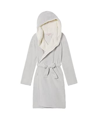d01fb55d97 Victoria s Secret New Cozy Hooded Short Robe (Medium Large