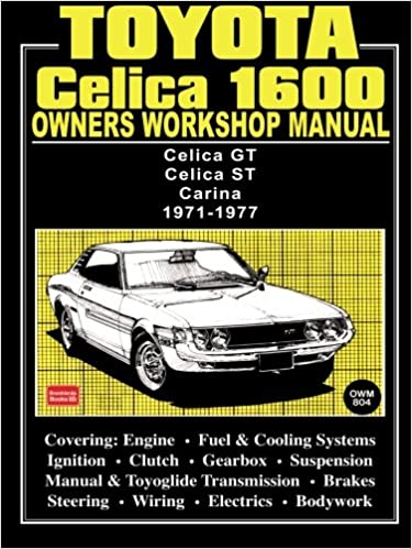Toyota celica 1600 owners workshop manual 1971 1977 owners toyota celica 1600 owners workshop manual 1971 1977 owners workshop manuals brooklands books ltd 9781855201330 amazon books fandeluxe Choice Image