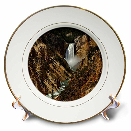 Lower Falls Yellowstone National Park (3dRose LLC Lower Falls Yellowstone National Park 8-Inch Porcelain Plate)