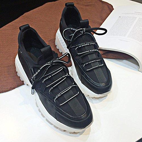 Moda Wild Zapatos Mujer Zapatos QQWWEERRTT con Casuales los Zapatos Zapatos para Nuevos de Modelos mismos negro Deportivos Harajuku awq81qEx