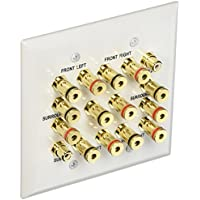 Monoprice 106707 7.2 Surround Sound Distribution Wall Plate, 2-Gang