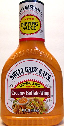 Creamy Chicken Sauce - Sweet Baby Ray's Creamy Buffalo Wing Dipping Sauce (Pack of 2) 14 oz Bottles