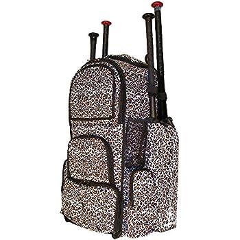 White Cheetah Print Camouflage Chita L Adult Softball Baseball Bat  Equipment Backpack 05541fb1be5f5