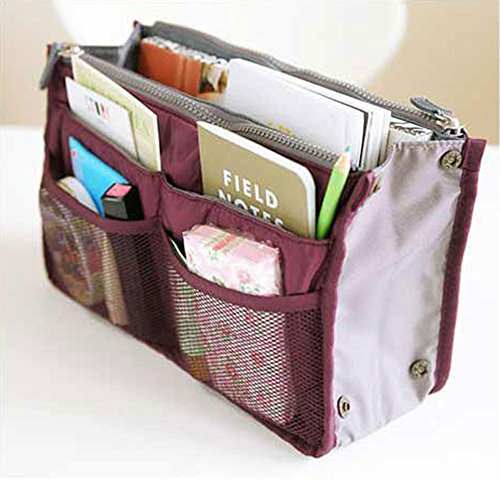 Wine Accessories Mix (Large Purse Organizer Insert Handbag Pouch Tidy & Neat (Ships From USA))