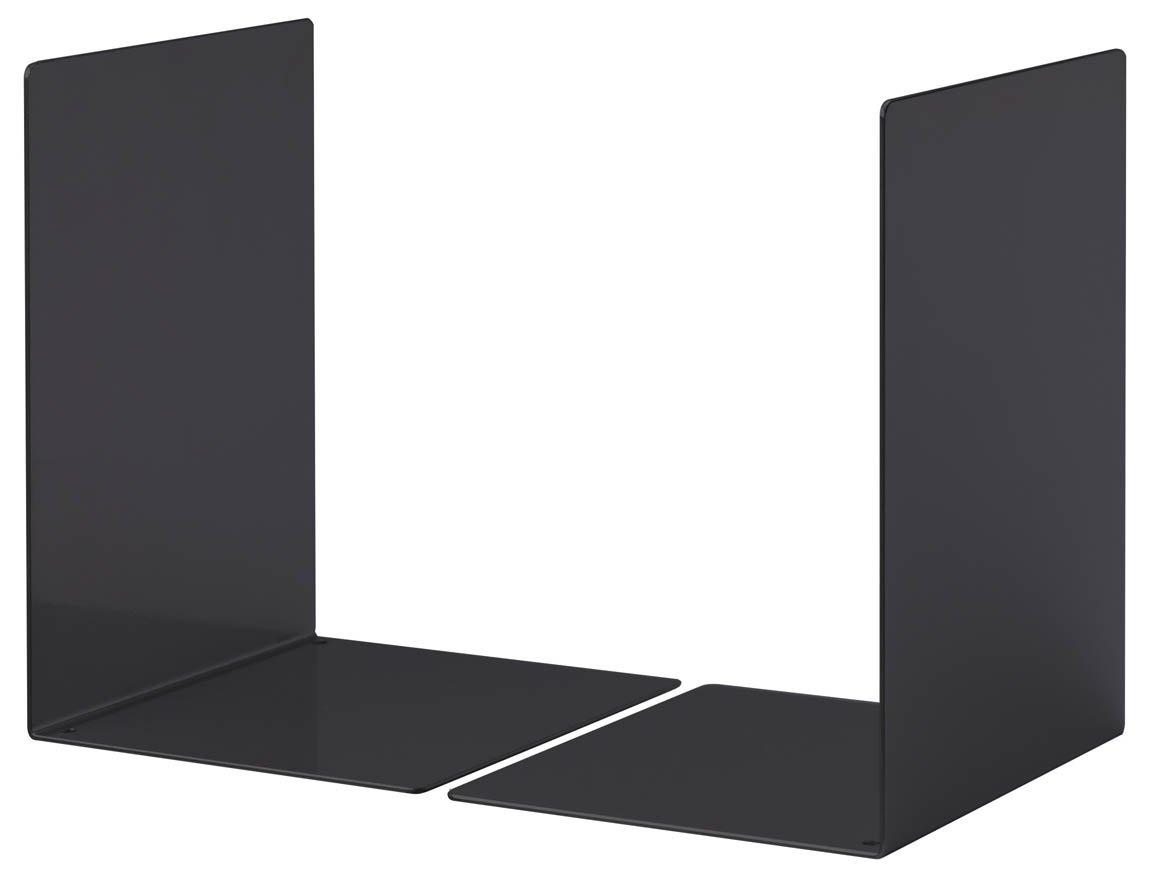 Durable 324410 Paire de Serre - Livres Grand Modèle Forme en L - Dimensions ((L x H x P)) 160 x 220 x 160 mm - en Acier Epoxy Coloris Gris Serre-livres