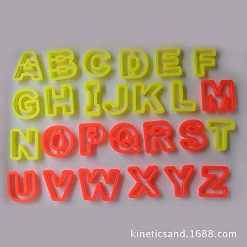 kinetic motion sand modeling mold tool toys (Alphabet Sand Molds)