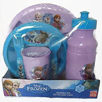 Disney Frozen 6 Pc. Dinnerware Set - Plate Bowl Spoon Fork Cup and Water Bottle & Amazon.com : Disney Frozen 6 Pc. Dinnerware Set - Plate Bowl Spoon ...