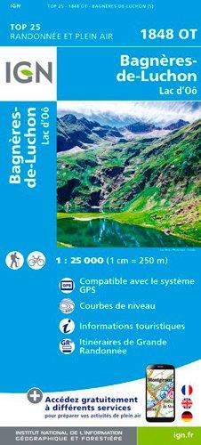 IGN Bagneres-De-Luchon/Lac D'Oo - Carte topographique
