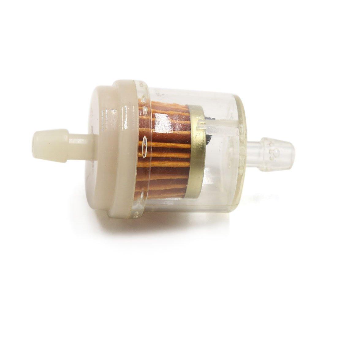 Sourcingmap 4/pcs 8/mm de diam/ètre Flexible Magn/étique pour moto Essence Inline gas Oil filtre /à carburant pour aspirateur