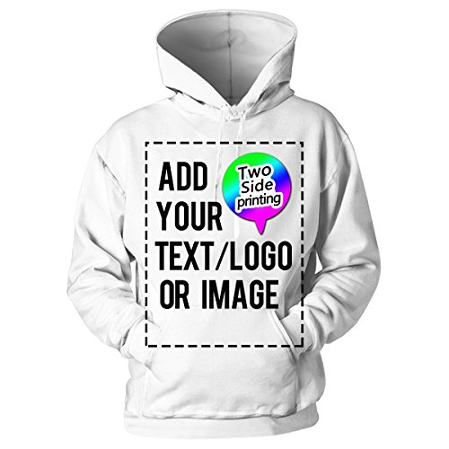 Design Your Own Hoodie-Custom Hoodie Personalized Sweatshirt Hoodie for Men & Women White