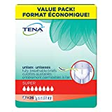 Tena Adjustable Incontinence Briefs, Super Absorbency, Large Waist, 26 Count