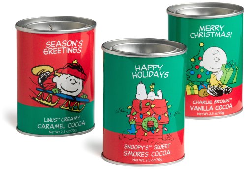 Hot Chocolate Tin - McSteven's Peanuts Good Grief Cafe Holiday Cocoa Gift Set, 3-Count, 2.5-Ounce Tins (Pack of 2)