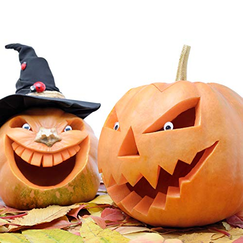 Halloween Haunters 3 Piece Professional Pumpkin Carving Tool Kit - Easily Carve Sculpt Halloween Jack-O-Lanterns - Scooper Scraper, Double Sided Saw, Fine Tooth Saw by Halloween Haunters (Image #5)