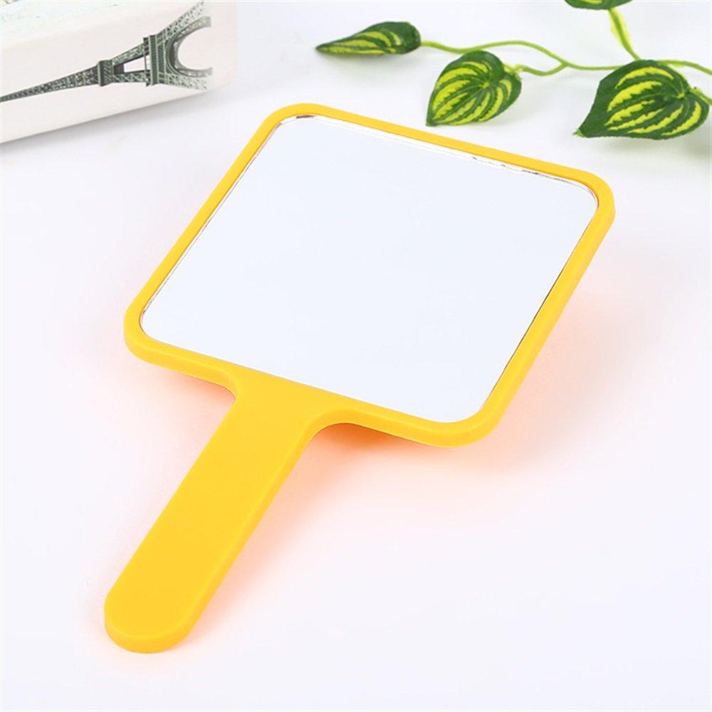 TOUYOUIOPNG Baby Spielzeug Safe Spiegel Mini-Quadrat-Form-Karikatur-Muster-Handspiegel-kleine Glasspiegel für das Handwerks-Dekoration-kosmetische Zusatz-Orange