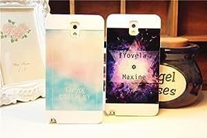 Galaxy Note3 caso, Harajuku para Samsung Galaxy Note3, 1 pieza, azul y rosa