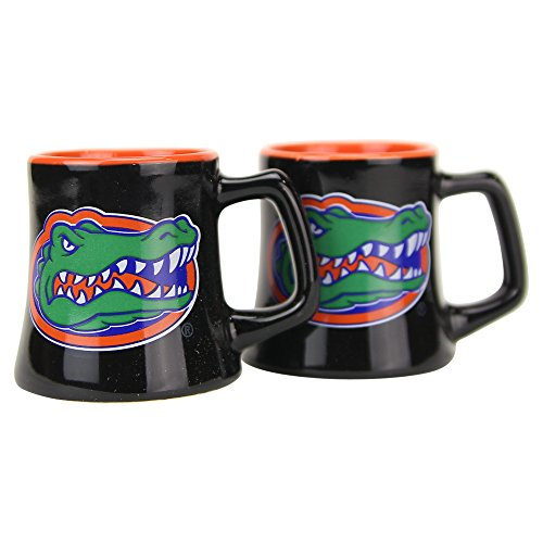 (NCAA Full Color Sclupted Mug 2oz Shot Glass 2-Pack (Florida Gators))