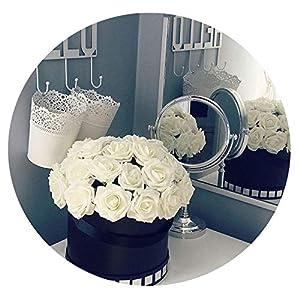 HuaHua-Store 25 Heads 8Cm New Colorful Artificial Pe Foam Rose Flowers Bride Bouquet Home Wedding Decor Scrapbooking DIY Supplies 2