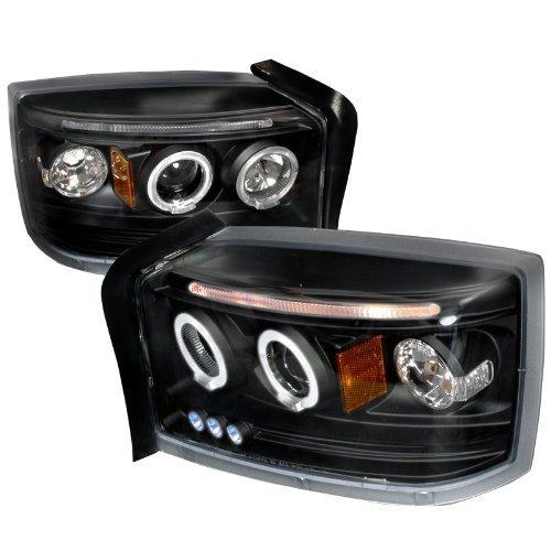Spec-D Tuning 2LHP-DAK05JM-TM Dodge Dakota Dual Halo Led Projector Black Head Lights Pair from Spec-D Tuning