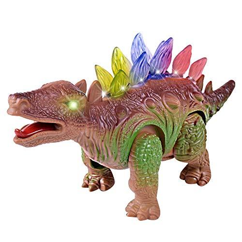 Sannysis Light Up Dinosaur Electronic Walking Robot Roaring Interactive Dino Toy ()