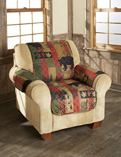 The Lakeside Collection Dakota Lodge Chair Cover - Diamond Quilted Fabric (Furniture Holiday)