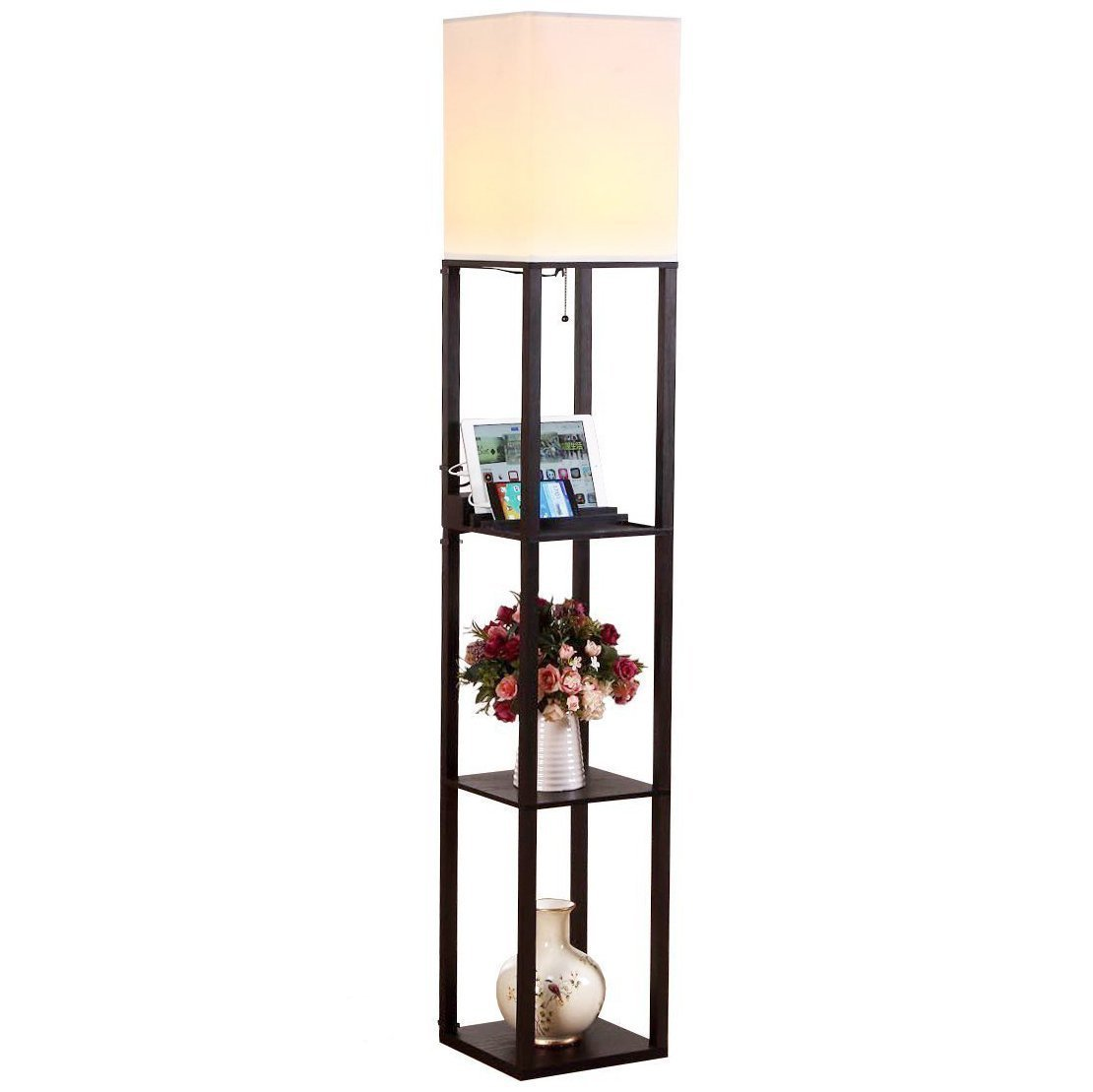 shelf parker drawer black adesso floor lamp with hayneedle pin com from