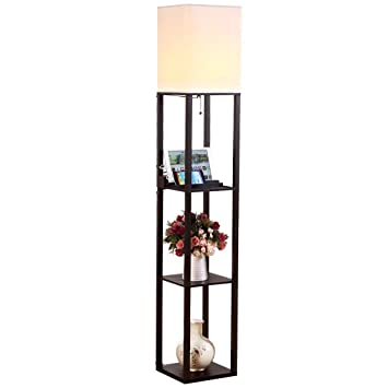 shelves target mainstays brown paper with white lamp floral linen floor shade shelf lowes black tan off
