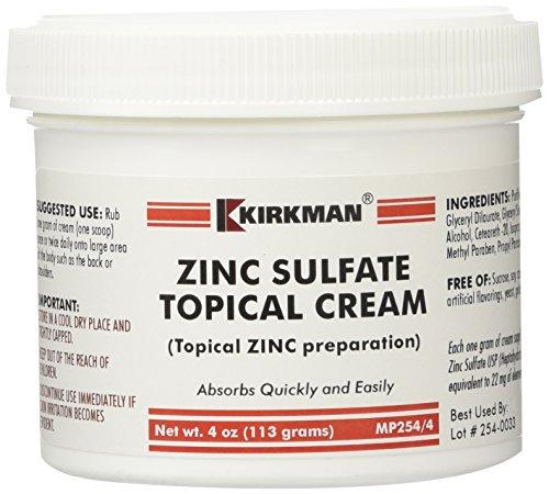 Zinc Sulfate Topical Cream 4 oz