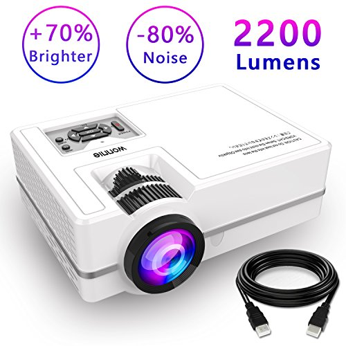 Projector, WONNIE Mini Projector 2200 Lumens...