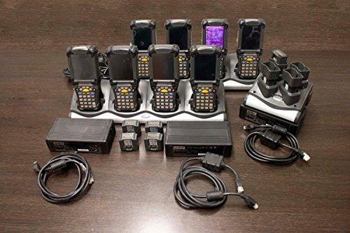 (Symbol Race Sport Lighting SYMBLK-KIT Complete Warehouse Scanning Package LOT OF 8 Motorola MC9094-SKCHCAHA6AR Wireless 1D 2D Barcode Scanner PDA)